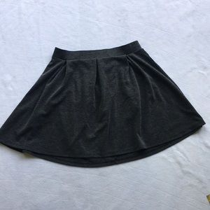 For and flare skirt.  Gray.